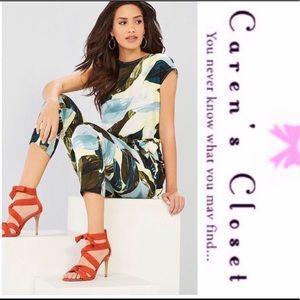 Vince Camuto Breezy Palms Print Jumpsuit